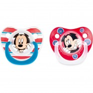 Set 2 Suzete Mickey 6 Luni Lulabi 8113000, Albastru/Rosu